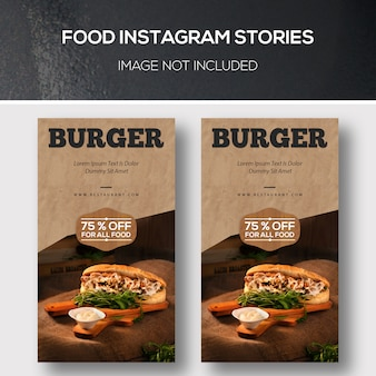 Promotion-vorlage für food instagram stories