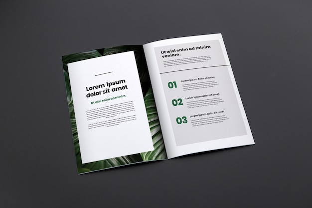 Prospektmodell der broschüre