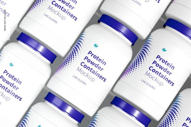 Proteinpulverbehälter set mockup