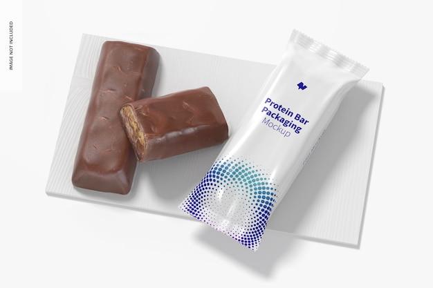 Proteinriegel-verpackungsmodell, draufsicht