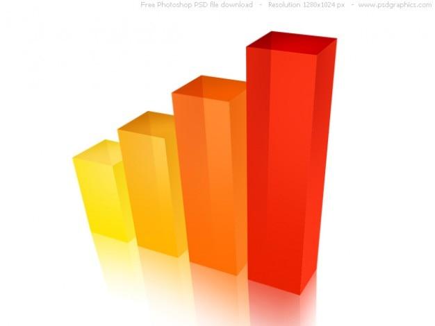 Psd 3d business graph icon