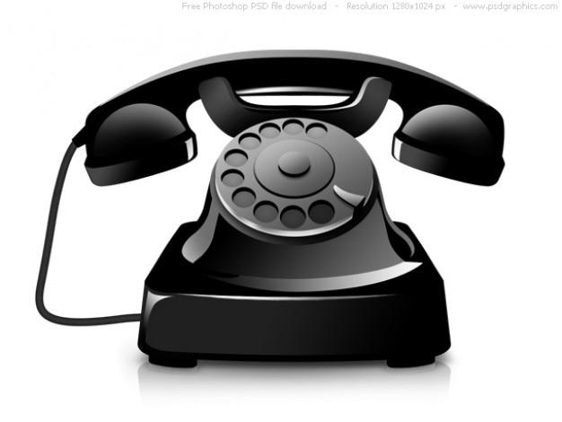 Psd alte telefon-symbol