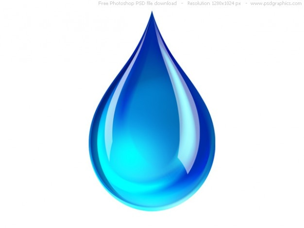 Psd blauen wassertropfen-symbol