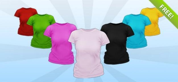 Psd-damen-hemd mockup templates