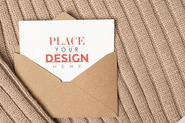 Psd-modell der papiergrußkarte