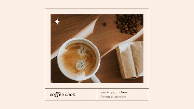 Psd-präsentationsvorlage für sonderangebote für bäckerei- und café-marketing