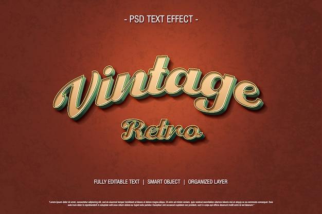 Psd texteffekt vintage retro-stil