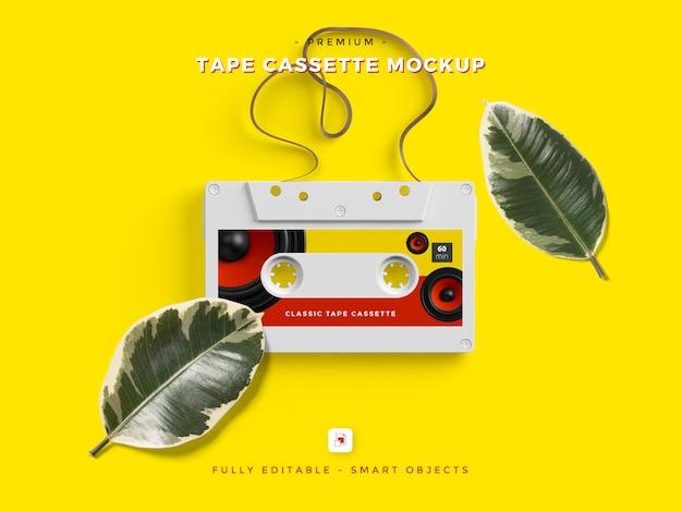 Psd-vorlage für tape cassette mockup