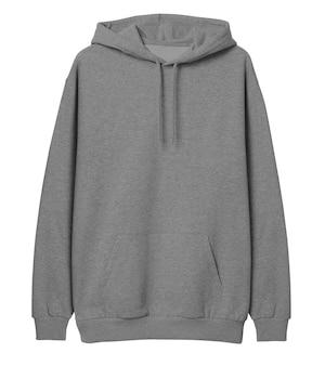 Pullover hoodie grau