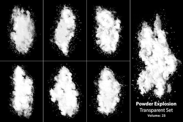 Pulver explosionsrauch transparentes set