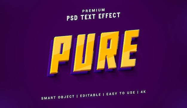 Pure text effect generator