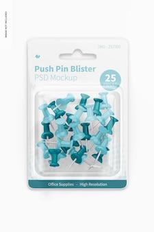 Push-pin-blister-modell, ansicht von oben