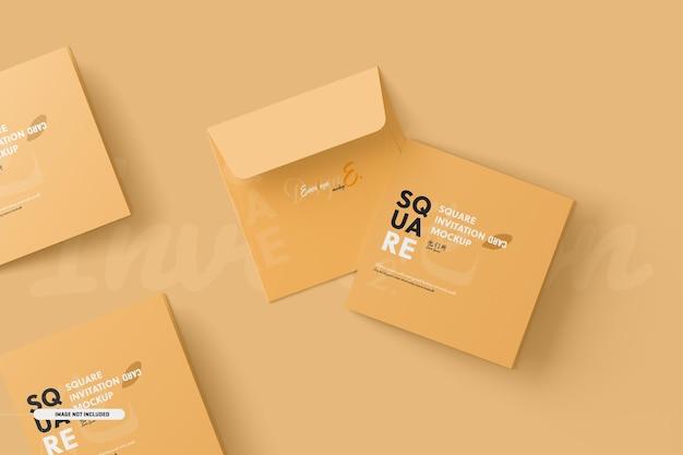 Quadratische bifold-einladungskarten-modell