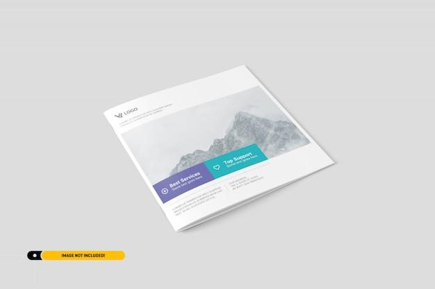 Quadratische broschüre mockup