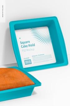 Quadratische kuchenformen aus silikon, gelehnt