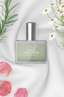 Quadratische parfümflasche mockup