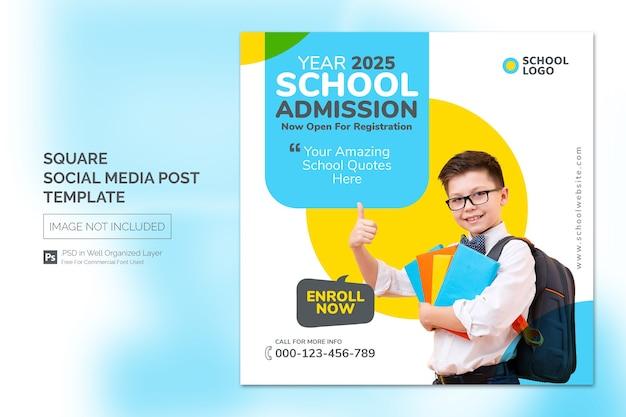 Quadratische social media instagram post oder web-banner-vorlage mit überschriften-design-konzept