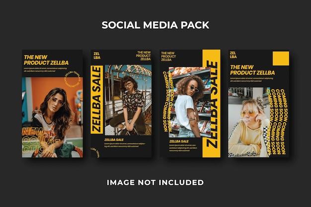 Quadratische social-media-story-instagram-vorlage