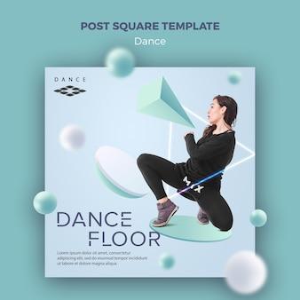 Quadratische vorlage für die tanzfläche