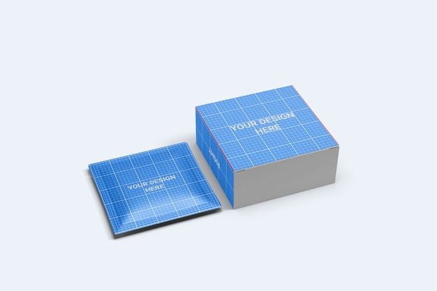 Quadratischer beutel mit kartonverpackungsmodell