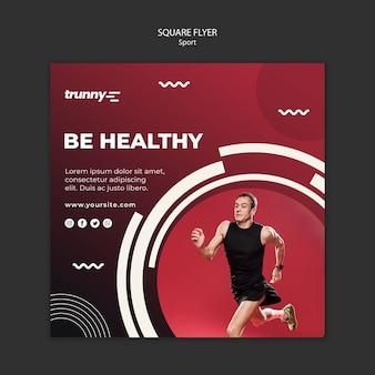 Quadratischer flyer für fitness