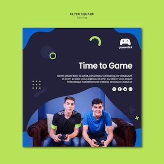 Quadratischer flyer für videospiele