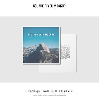 Quadratischer flyer, grußkarte, einladungsmodell