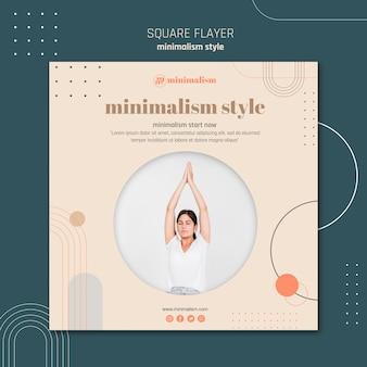 Quadratischer flyer mit minimalistischem lebensstil
