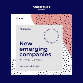 Quadratischer online-business-flyer