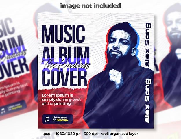 Quadratisches banner für musik-cover-album