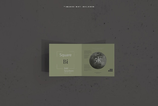 Quadratisches bi-fold-broschürenmodell