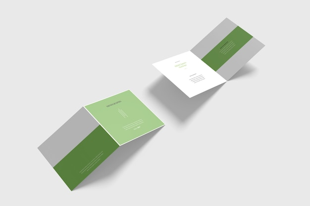 Quadratisches biifold-broschürenmodell