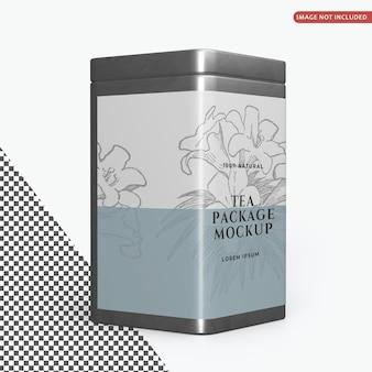 Quadratisches blechdosen-verpackungsmodell