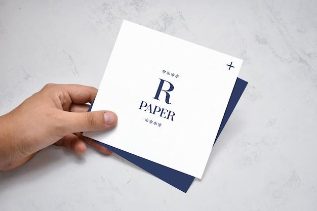 Quadratisches broschürenmodell