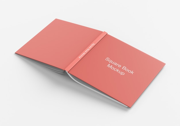 Quadratisches buch- oder magazin-cover-modell