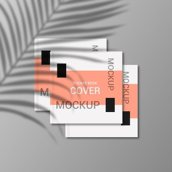 Quadratisches buchdeckel-modelldesign