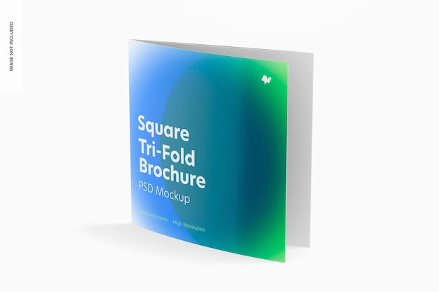 Quadratisches, dreifach gefaltetes broschürenmodell