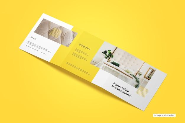 Quadratisches dreifach gefaltetes broschürenmodell Premium PSD