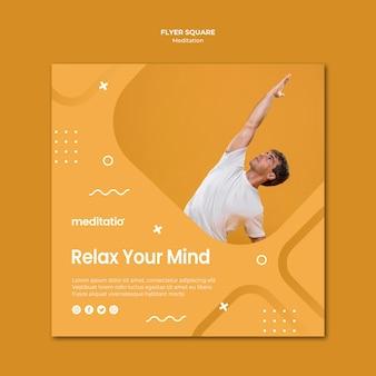 Quadratisches flyer-meditationskonzept