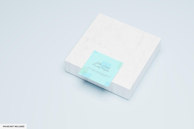 Quadratisches geschenkkartenmodelldesign