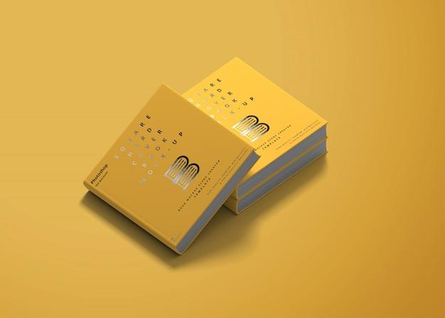 Quadratisches hardcover-buchmodell