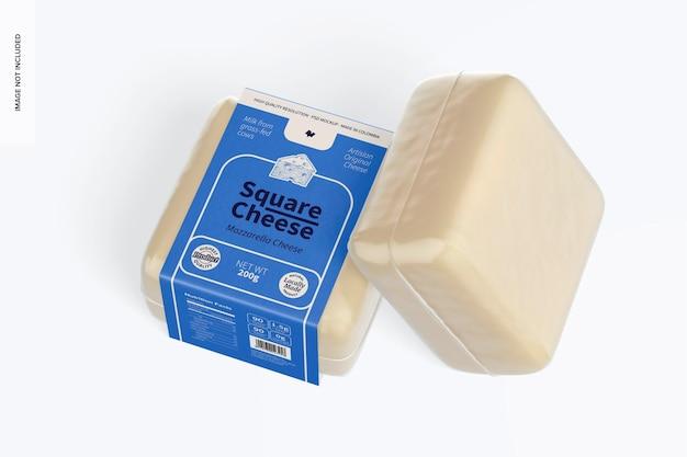 Quadratisches käsemodell, ansicht von oben