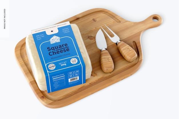 Quadratisches käsemodell, draufsicht 02