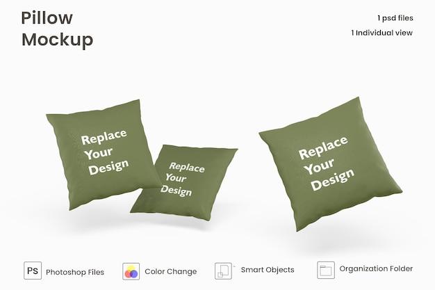 Quadratisches kissen-mockup-design premium psd