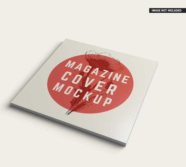 Quadratisches magazin-cover-modelldesign