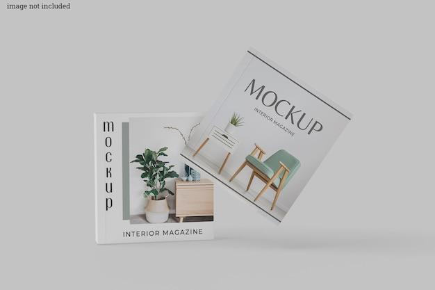 Quadratisches magazin-mockup
