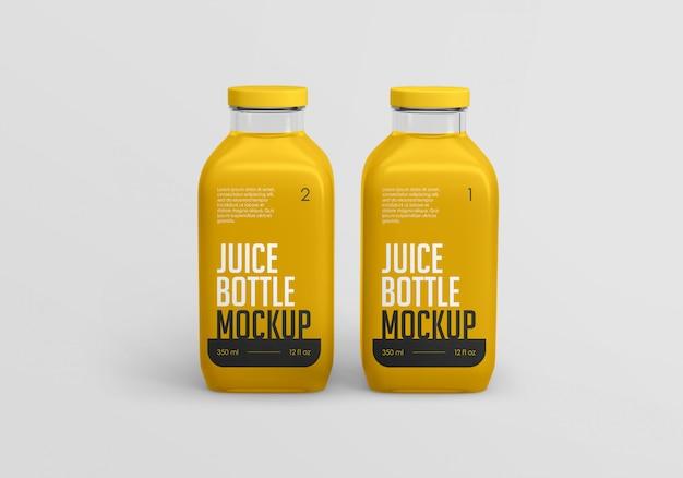 Quadratisches orangensaftflaschenmodell