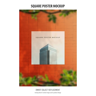 Quadratisches plakat-modell