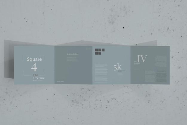 Quadratisches vierfaches broschürenmodell