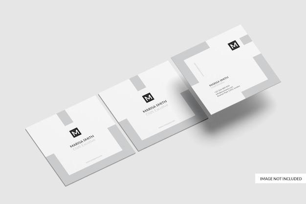 Quadratisches visitenkarten-modelldesign